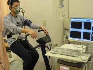 心臓リハ外来検査の様子